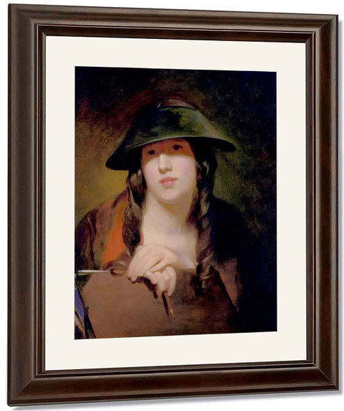 Rosalie Kemble Sully As The Student By Thomas Sully