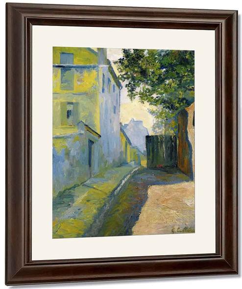 Rue Du Mont Cenis, Montmartre By Gustave Caillebotte By Gustave Caillebotte