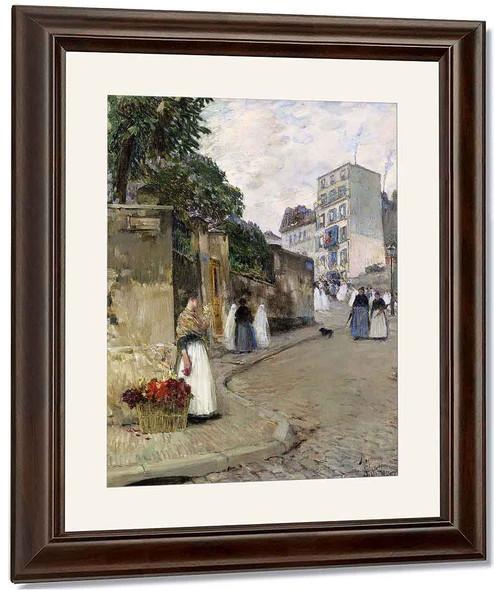 Rue Montmartre, Paris By Frederick Childe Hassam By Frederick Childe Hassam