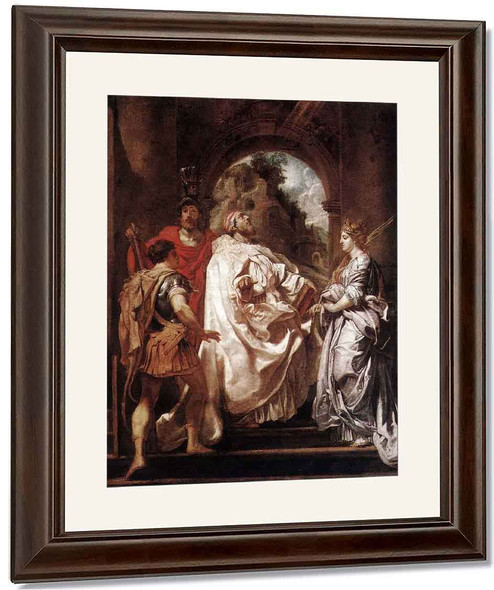 Saint Gregory The Great With Saints By Peter Paul Rubens By Peter Paul Rubens