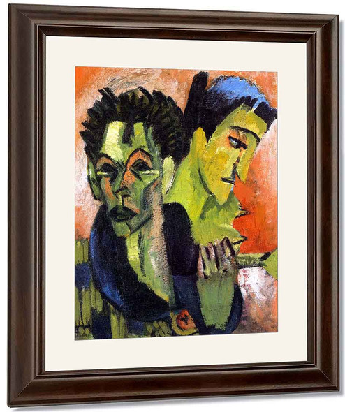 Self Portrait, Double Portrait By Ernst Ludwig Kirchner By Ernst Ludwig Kirchner