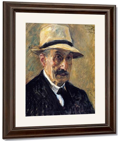 Self Portrait In A Straw Hat By Max Liebermann By Max Liebermann