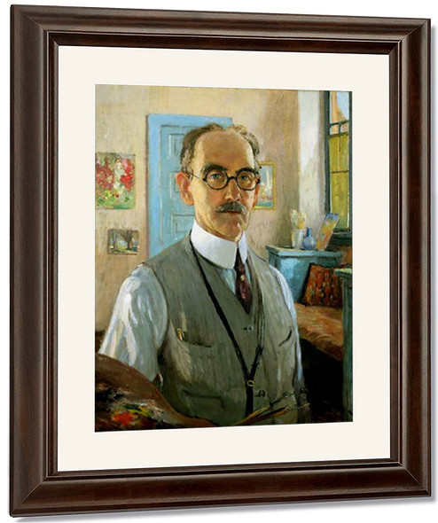 Self Portrait By Colin Campbell Cooper By Colin Campbell Cooper