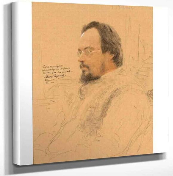 Portrait Of Writer Yevgeny Nikolayevich Chirikov. By Ilia Efimovich Repin Art Reproduction