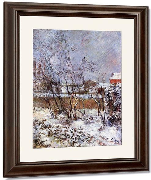 Snow, Rue Carcel By Paul Gauguin By Paul Gauguin