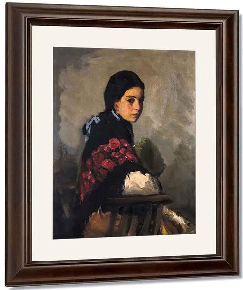 Spanish Girl By Robert Henri