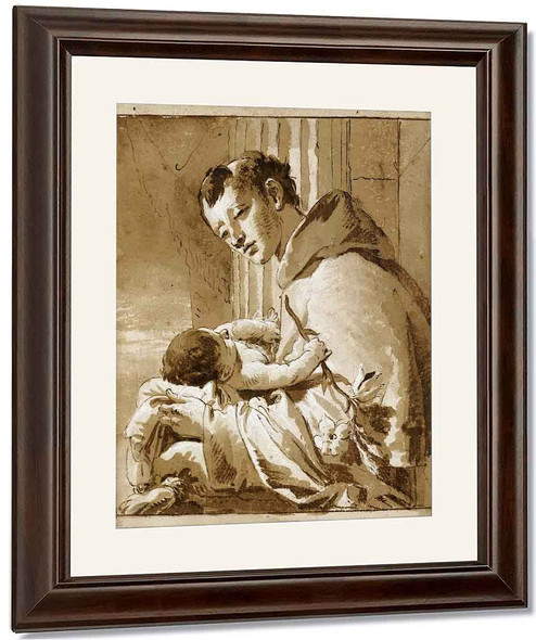St.Anthony Of Padua And The Christ Child By Giovanni Battista Tiepolo