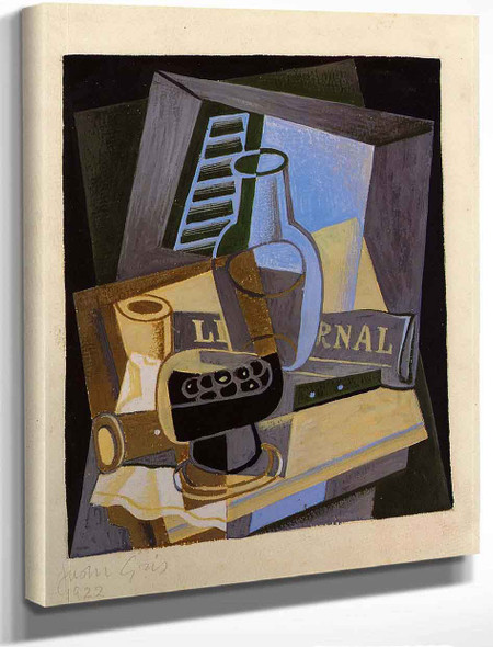 Still Life In Front Of The Wiindow By Juan Gris