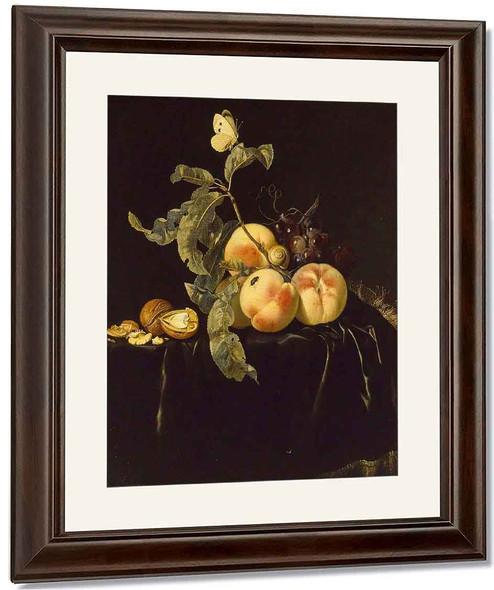 Still Life Of Fruit1 By Willem Van Aelst By Willem Van Aelst