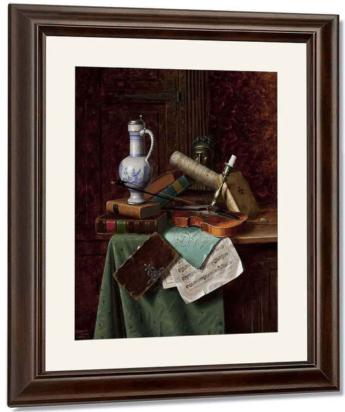 Still Life With Dutch Jar And Bust Of Dante By William Michael Harnett