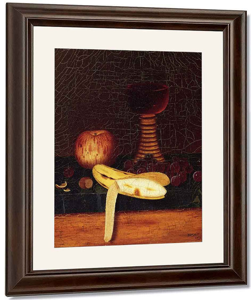 Still Life With Goblet, Fruit And Nuts By William Michael Harnett