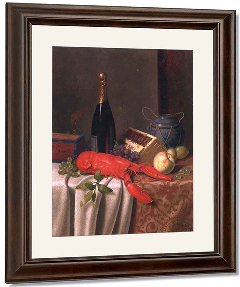 Still Life With Lobster By William Michael Harnett By William Michael Harnett