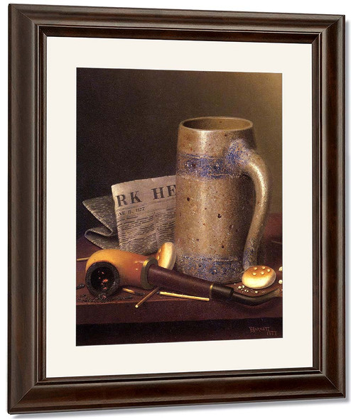 Still Life With Mug, Pipe And New York Herald By William Michael Harnett
