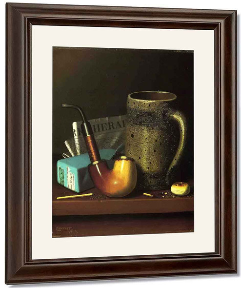 Still Life With Pipe, Mug And Newspaper By William Michael Harnett