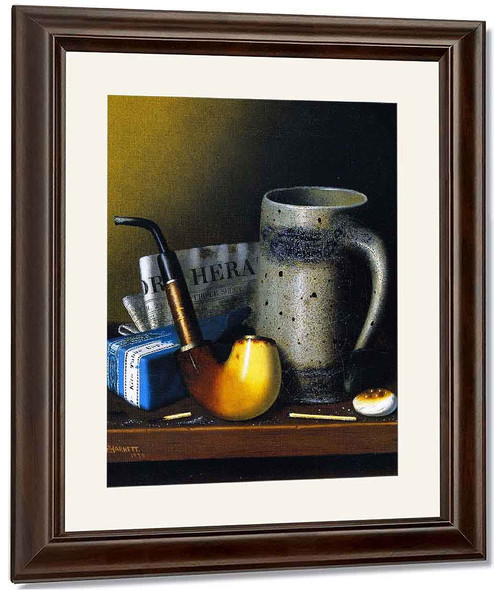 Still Life With Pipe And New York Herald By William Michael Harnett