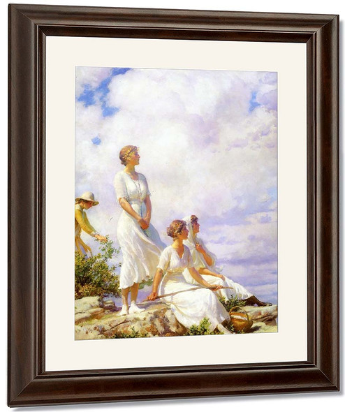 Summer Clouds By Charles Courtney Curran By Charles Courtney Curran