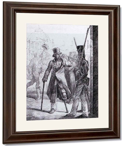 Swiss Guard And Wounded Veteran By Theodore Gericault