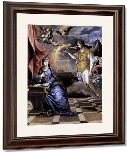 The Annunciation3 By El Greco By El Greco