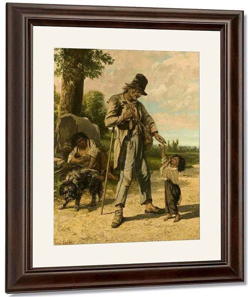 The Charity Of A Beggar At Ornans By Gustave Courbet By Gustave Courbet
