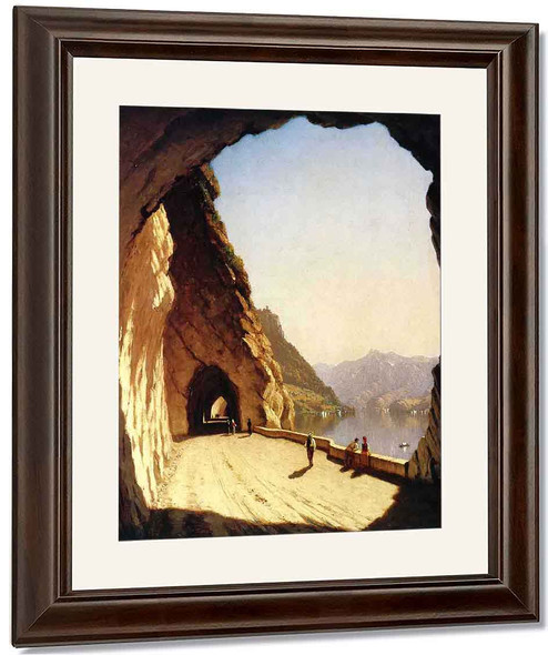 The Galleries Of The Stelvio Lake Como By Sanford Robinson Gifford By Sanford Robinson Gifford