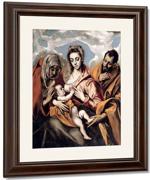 The Holy Family3 By El Greco By El Greco