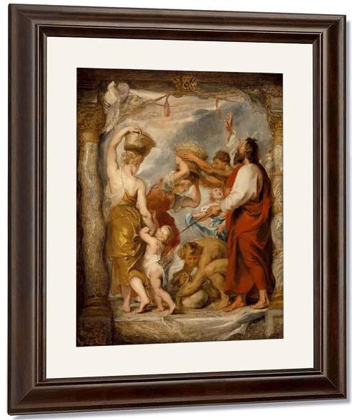 The Israelites Gathering Manna In The Desert By Peter Paul Rubens By Peter Paul Rubens