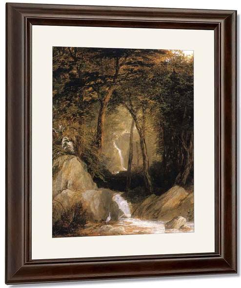 The Mountain Stream By John Frederick Kensett By John Frederick Kensett