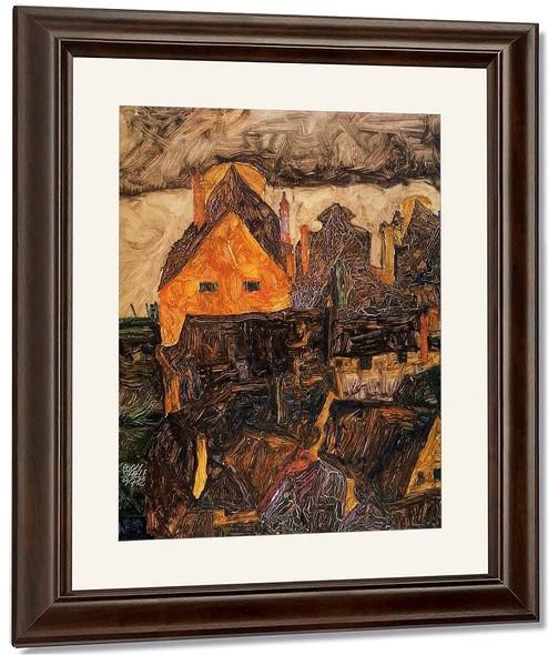 The Old City I By Egon Schiele By Egon Schiele