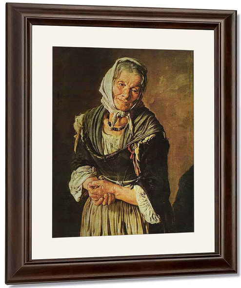 The Old Peasant Woman By Giacomo Ceruti