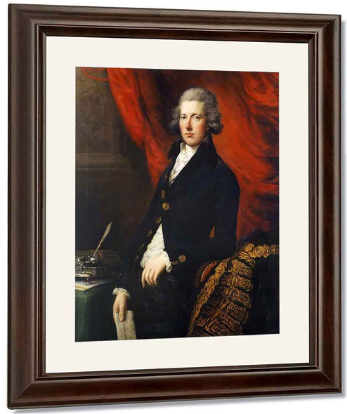 The Right Honourable William Pitt The Younger By Thomas Gainsborough By Thomas Gainsborough