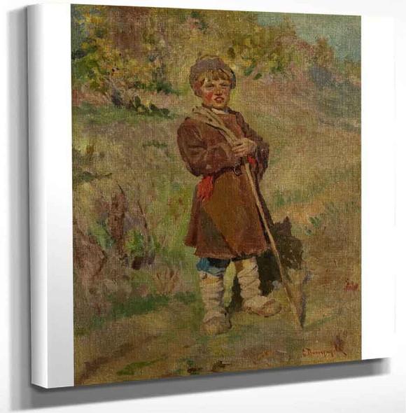 Shepherd Boy By Sergei Arsenevich Vinogradov Russian 1869 1938 Art Reproduction