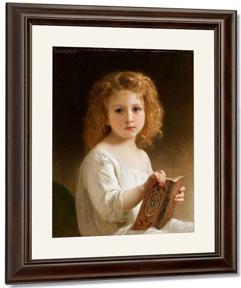 The Story Book By William Bouguereau By William Bouguereau