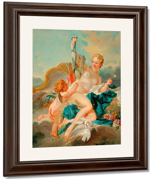 Venus Disarming Cupid By Francois Boucher