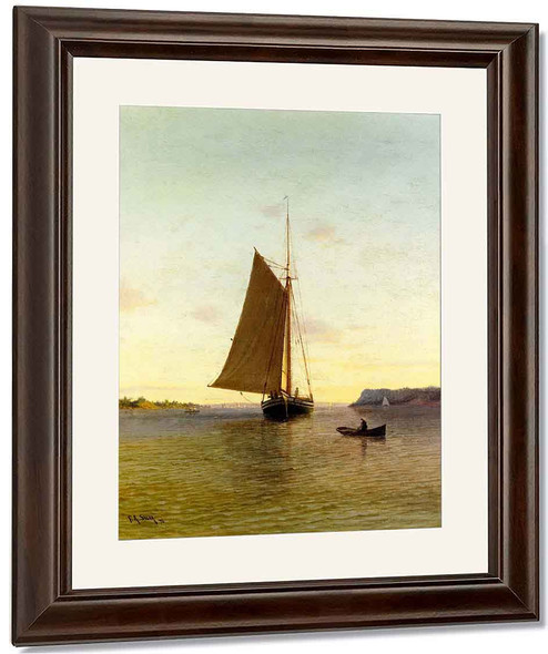 View On The Hudson River By Francis A. Silva