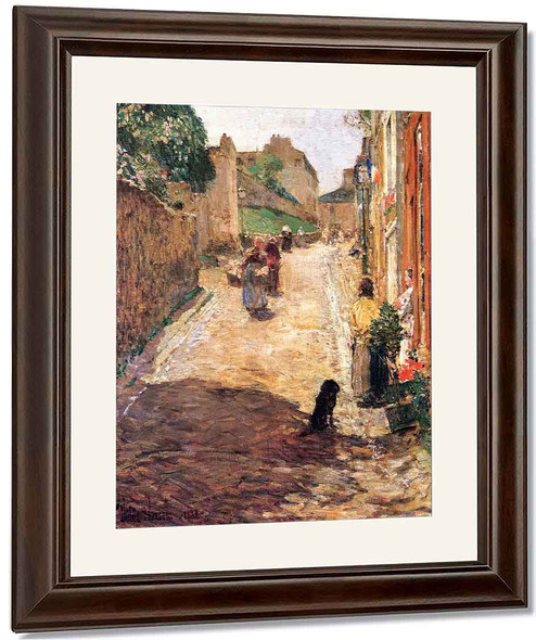 Village Street Scene, France By Frederick Childe Hassam By Frederick Childe Hassam