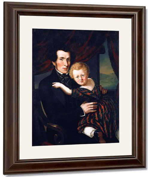 William Williamson And His Son Alexander By Cornelius Krieghoff By Cornelius Krieghoff