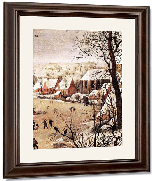 Winter Landscape With Skaters And A Bird Trap By Pieter Bruegel The Elder By Pieter Bruegel The Elder