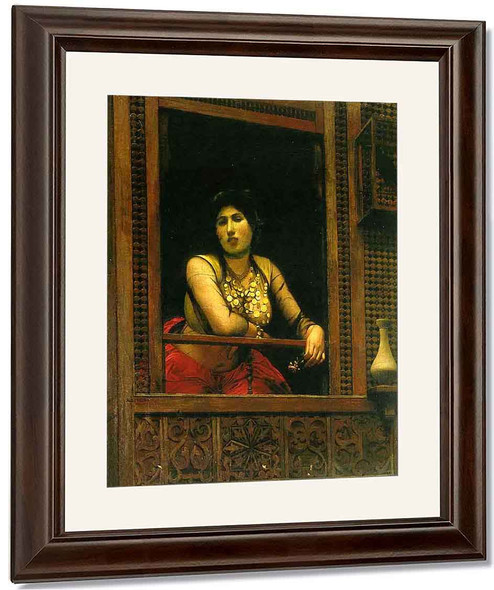 Woman At Her Window By Jean Leon Gerome By Jean Leon Gerome