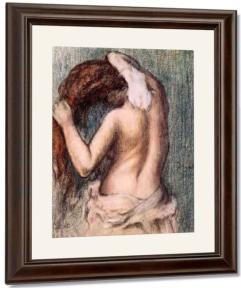 Woman Drying Herself By Edgar Degas By Edgar Degas
