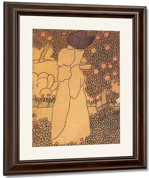 Woman In The Garden By Jozsef Rippl Ronai By Jozsef Rippl Ronai
