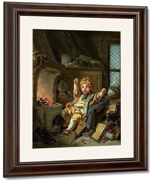Young Alchemist By Francois Boucher