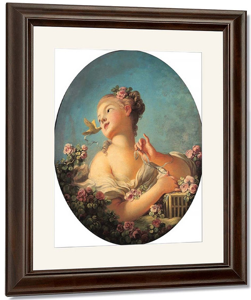 Young Girl Freeing A Bird By Jean Honore Fragonard By Jean Honore Fragonard