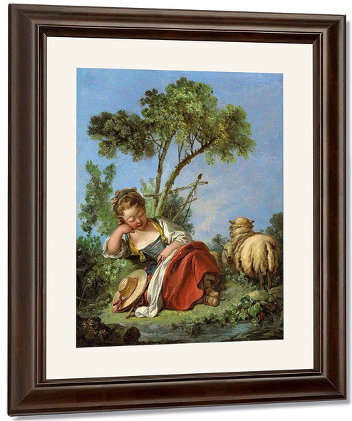 Young Shepherdess By Francois Boucher