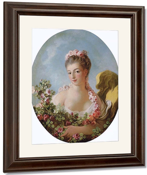 Young Woman With A Garland Of Roses By Jean Honore Fragonard By Jean Honore Fragonard