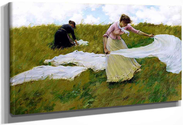 A Breezy Day By Charles Courtney Curran By Charles Courtney Curran