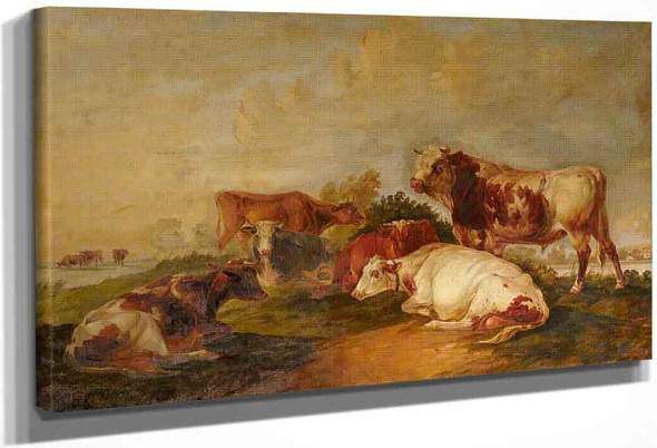 A Bull And Cows In A Landscape By Thomas Sidney Cooper By Thomas Sidney Cooper