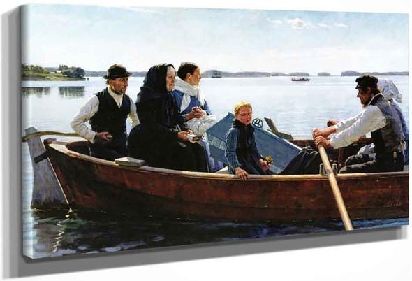 A Child's Funeral By Albert Edelfelt