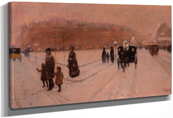 A City Fairyland By Frederick Childe Hassam