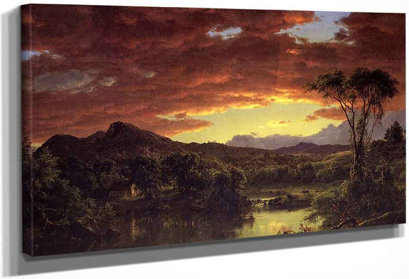 A Country Home By Frederic Edwin Church By Frederic Edwin Church