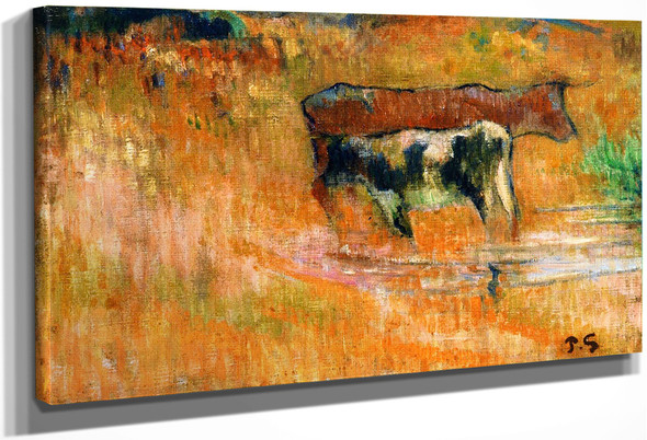 A Cow And Her Calf By Paul Gauguin